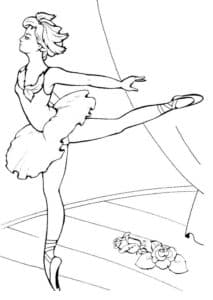 балерина делает упражнение