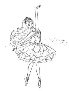 балерина шаблон