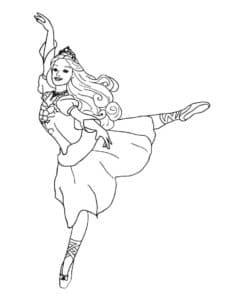 балерина с короной раскраска