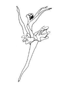 балерина раскраска для ребенка красивая