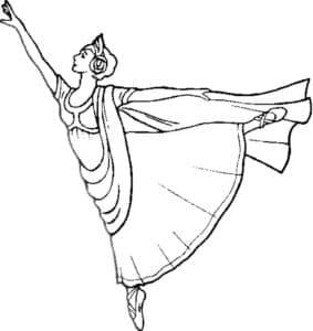 Балерина детская раскраска скачать