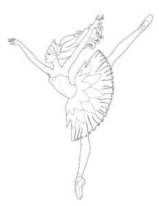 балерина подняла ногу