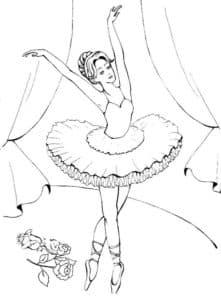 балерина на сцене
