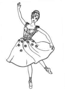 балерина с цветами на платье