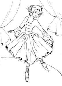 балерина выступает на сцене