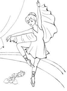 Маленькая балерина и цветы