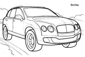 Машина Бентли раскраска
