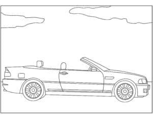 БМВ кабриолет раскраска
