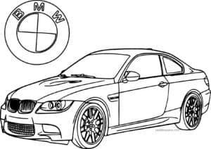 Машина БМВ с логотипом