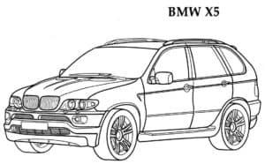 БМВ х5 раскраска детская