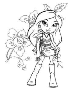 Джейд с цветами