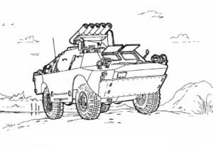 БТР с ракетной установкой