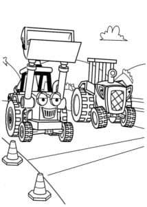 Бульдозер и трактор