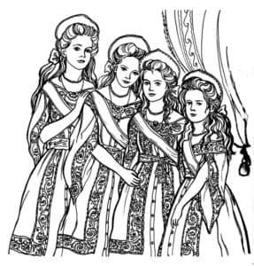 Сестрицы в платьях