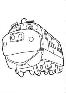 Раскраска Чагинтон веселый паровозик