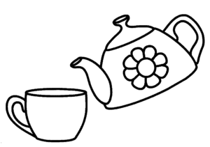чайник с ромашкой