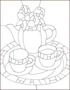 чайник раскраска для детей