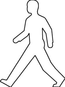 трафарет идущего человека