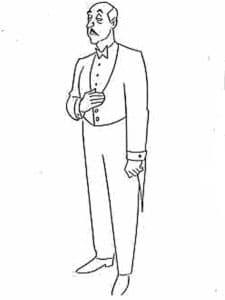 Человек с усами в костюме