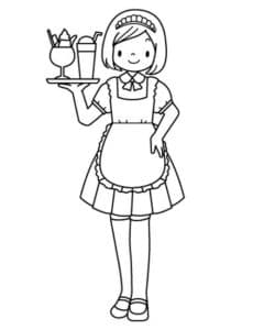 девочка официант