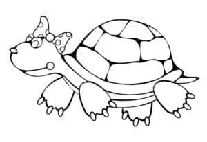 черепаха с бабочкой