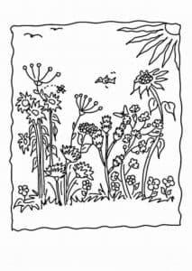Картинка цветы и насекомые
