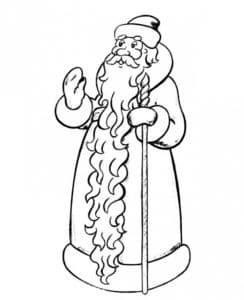 дед мороз с большой бородой
