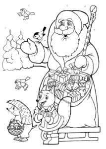 дед мороз и лисичка с ежиком