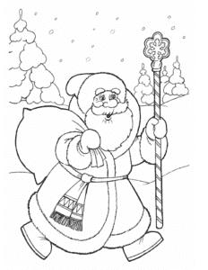 дед мороз с мешком подарков