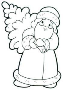дед мороз несет елку