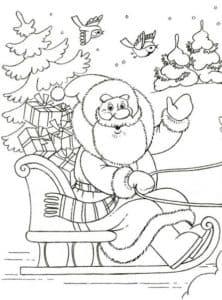 дедушка мороз едет на санях