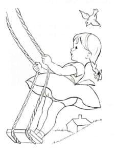 Девочка на качеле