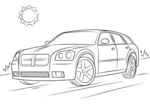 Машина додж и солнце