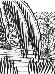 Раскраска для детей джунгли