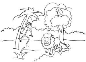 лев и обезьяна