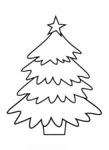 картинка елка с звездой