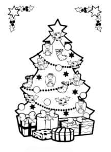 красивая елка и подарки
