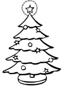 елка с большой звездой