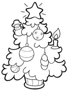 раскраска с новогодними шарами