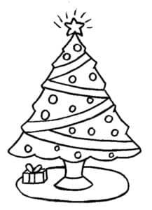 раскраска детская новогодняя елка