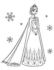 Принцесса Эльза и снежинки
