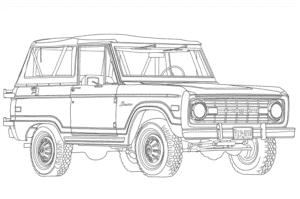 Форд внедорожник раскраска