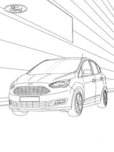 Машина Форд едет