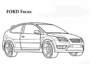 Форд фокус раскраска для ребенка