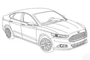 Легковой автомобиль форд
