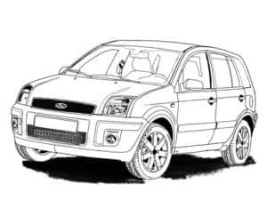 Раскраска машина форд