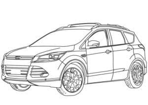 Форд автомобиль раскраска для ребенка