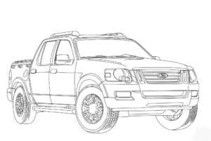 Форд пикап раскраска для малыша