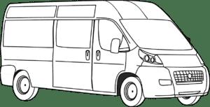 Фургон раскраска детская