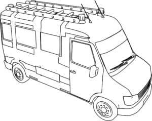 фургон с лестницей на крыше